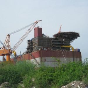 Cần trục 350 tấn tầu Côn Sơn